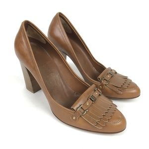 Salvatore Ferragamo Heels Brown Leather Loafers